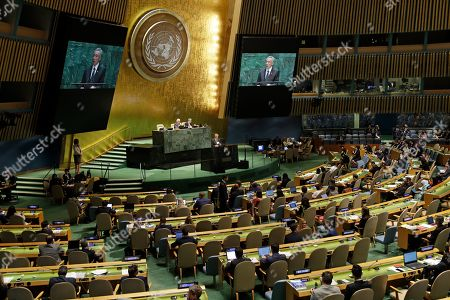 Singapore Prime Minister Lee Hsien Loong addresses the 74th session of the United Nations General Assembly, at the United Nations headquarters
