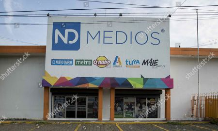 Facade of the building where the El Nuevo Diario, Metro and Maje newspapers work, among others, in Managua, Nicaragua, 27 September 2019. Nicaraguan newspapers El Nuevo Diario, Metro and Maje, critical of the government of President Daniel Ortega, stopped circulating as of Friday due to 'economic, technical and logistical difficulties', in the midst of the worst crisis in Nicaragua in the last three decades. The three newspapers, which belong to the publishing company Nuevo Amanecer and whose owners are the Promerica financial group, with Nicaraguan capital, explained in a statement that they decided to discontinue with their publications, in print and digital, because the adverse difficulties they face 'makes unsustainable functioning'.