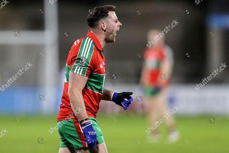 Na Fianna vs Ballymun Kickhams. Ballymun Kickhams' Philly McMahon reacts to a penalty