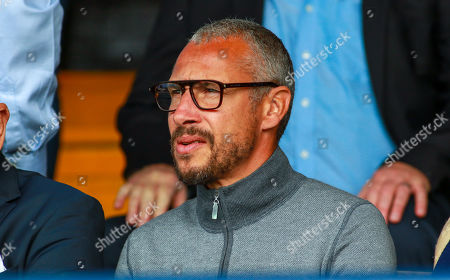 Henrik Larsson, watches the game from the directors box. Southend United V Accrington Stanley.