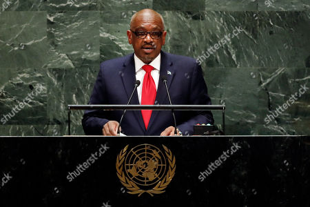 Hubert Alexander Minnis, Prime Minister of Bahamas, addresses the 74th session of the United Nations General Assembly