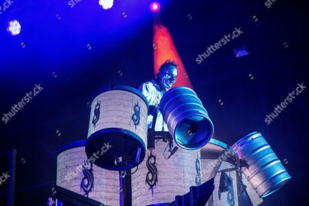 Shawn Crahan of Slipknot performs during Louder Than Life at Highland Festival Grounds at KY Expo Center, in Louisville, Ky