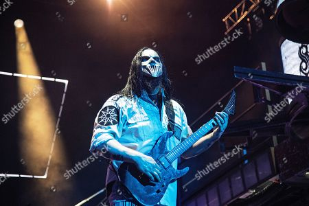 Stock Photo of Mick Thomson of Slipknot performs during Louder Than Life at Highland Festival Grounds at KY Expo Center, in Louisville, Ky