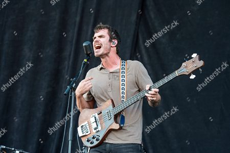 Stock Image of Charles Michael Parks Jr. of All Them Witches performs during Louder Than Life at Highland Festival Grounds at KY Expo Center, in Louisville, Ky