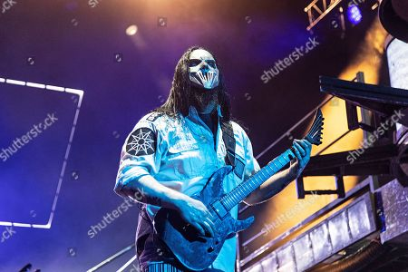 Stock Picture of Mick Thomson of Slipknot performs during Louder Than Life at Highland Festival Grounds at KY Expo Center, in Louisville, Ky
