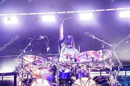 Jay Weinberg of Slipknot performs during Louder Than Life at Highland Festival Grounds at KY Expo Center, in Louisville, Ky