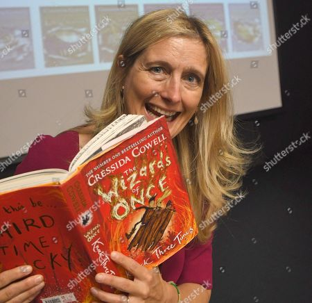 Editorial photo of Cressida Cowell reads to Liden Primary School pupils, Dorcan Academy, Swindon, UK - 20 Sep 2019