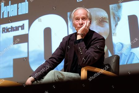 Stock Photo of US writer Richard Ford during the presentation of his latest book 'Lamento lo ocurrido' (lit. 'I am sorry for what happened'), a recompilation of short stories, in Barcelona, Spain, 27 September 2019. Ford decided to publish his newest book in Spain before everywhere else as a present to Spanish editor Jorge Herralde for the 50th anniversary of Anagrama publishing house.