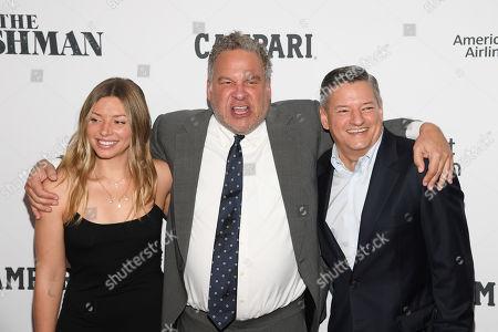Sarah Sarandos, Jeff Garlin, and Ted Sarandos