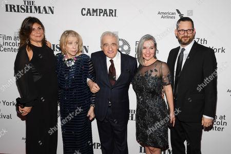 Stock Picture of Cathy Scorsese, Helen Morris, Martin Scorsese, Domenica Cameron-Scorsese, and Tony Frenzel