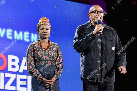Angelique Kidjo and Forest Whitaker