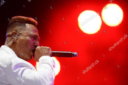 Stock Photo of Brazilian rapper Mano Brown performs at the Rock in Rio music festival in Rio de Janeiro, Brazil
