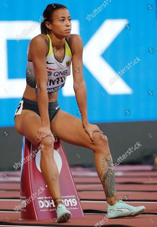 Tatjana Pinto of Germany competes in the women's 100m heats during the IAAF World Athletics Championships 2019 at the Khalifa Stadium in Doha, Qatar, 28 September 2019.