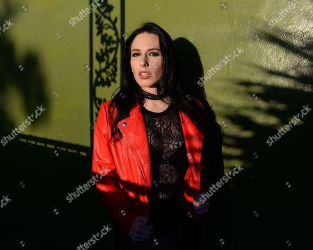 Editorial image of Madame Mayhem photoshoot at Revolution Live, Fort Lauderdale, Florida, USA - 26 Sep 2019
