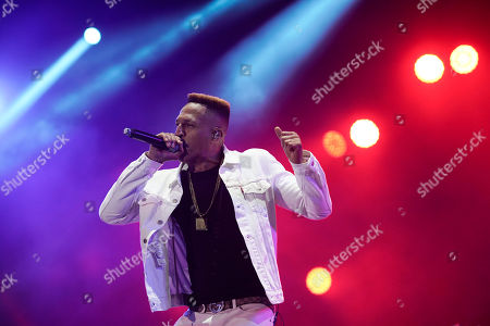 Brazilian rapper Mano Brown performs at the Rock in Rio music festival in Rio de Janeiro, Brazil