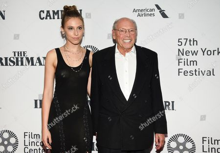 """Irwin Winkler, right, and guest attend the world premiere of """"The Irishman"""" at Alice Tully Hall during the opening night of the 57th New York Film Festival, in New York"""
