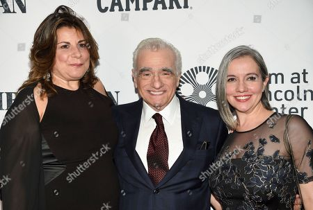"Stock Picture of Cathy Scorsese, Martin Scorsese, Domenica Cameron-Scorsese. Director Martin Scorsese, center, poses with his daughters Cathy Scorsese, left, and Domenica Cameron-Scorsese at the world premiere of ""The Irishman"" at Alice Tully Hall during the opening night of the 57th New York Film Festival, in New York"
