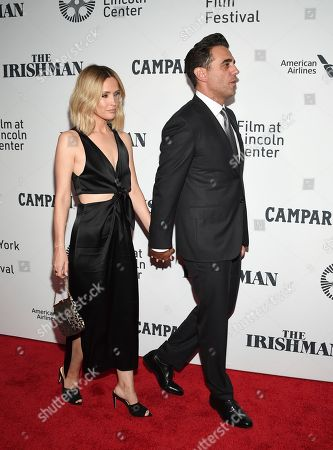 """Rose Byrne, Bobby Cannavale. Rose Byrne, left, and Bobby Cannavale attend the world premiere of """"The Irishman"""" at Alice Tully Hall during the opening night of the 57th New York Film Festival, in New York"""