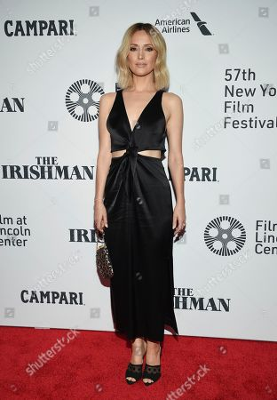 """Rose Byrne attends the world premiere of """"The Irishman"""" at Alice Tully Hall during the opening night of the 57th New York Film Festival, in New York"""