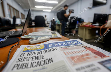 Stock Photo of The last printed edition of El Nuevo Diario newspaper sits on a desk at newsroom in Managua, Nicaragua, . Nicaragua's El Nuevo Diario newspaper announced Friday that it is stopping its print and web operations after 39 years. Nuevo Diario was favorable to the Sandinista Revolution when it was founded in 1980, but has since become critical of President Daniel Ortega's crackdown on protests
