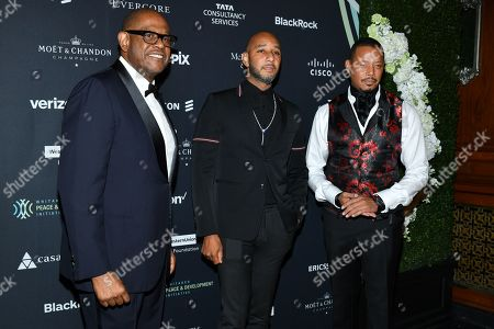 Forest Whitaker, Swizz Beatz and Terrence Howard