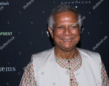 """Muhammad Yunus attends the Whitaker Peace & Development Initiative """"Place for Peace"""" benefit gala at Gotham Hall, in New York"""
