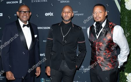 Stock Image of Forest Whitaker, Swizz Beatz and Terrence Howard