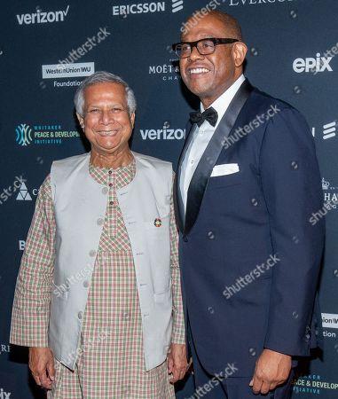 Muhammad Yunus and Forest Whitaker