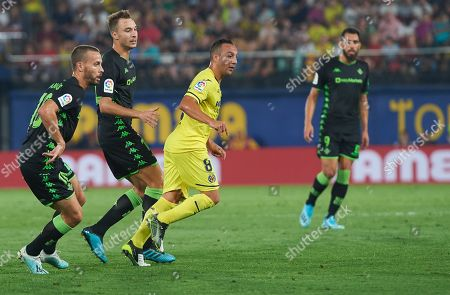 Santiago Cazorla of Villarreal and Sergio Canales of Real Betis