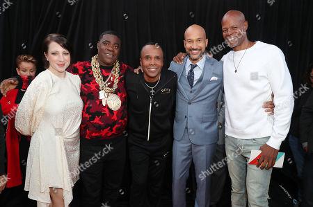Stock Image of Elisa Key, Tracy Morgan, Sugar Ray Leonard, Keegan-Michael Key and Keenen Ivory Wayans