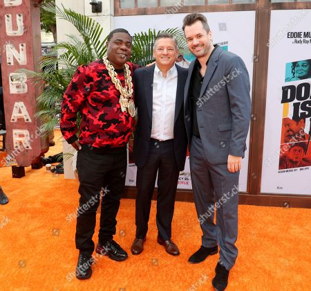 Stock Picture of Tracy Morgan, Ted Sarandos and Jim Jefferies