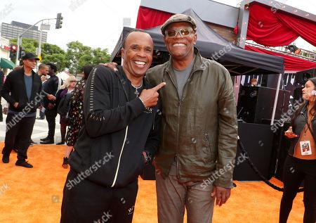 Sugar Ray Leonard and Samuel L. Jackson