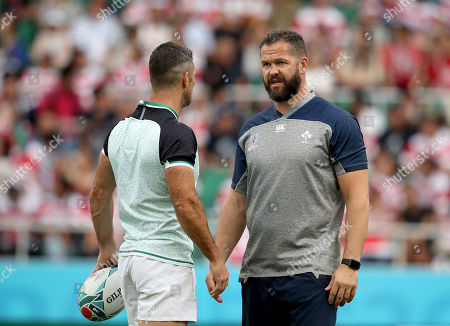 Japan vs Ireland. Rob Kearney and Defence Coach Andy Farrell
