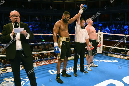 Stock Photo of Jonathan Palata (blue gloves) defeats Chris Healy during a Boxing Show at the Royal Albert Hall on 27th September 2019