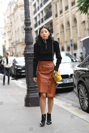 Editorial image of Street Style, Spring Summer 2020, Paris Fashion Week, France - 26 Sep 2019