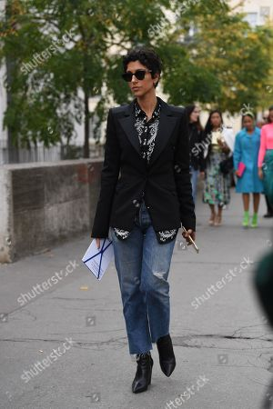 Editorial picture of Street Style, Spring Summer 2020, Paris Fashion Week, France - 26 Sep 2019
