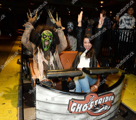 Editorial photo of Celebrities at Knott's Scary Farm, Los Angeles, USA - 27 Sep 2019
