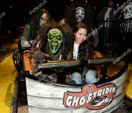 Editorial image of Celebrities at Knott's Scary Farm, Los Angeles, USA - 27 Sep 2019