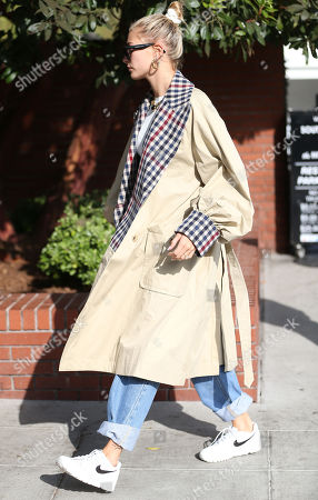 Editorial image of Hailey Bieber out and about, Beverly Hills, Los Angeles, USA - 27 Sep 2019