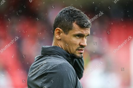 Liverpool defender Dejan Lovren (6) during the warm up ahead of the Premier League match between Sheffield United and Liverpool at Bramall Lane, Sheffield