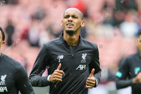Liverpool midfielder Fabinho (3) during the warm up ahead of the Premier League match between Sheffield United and Liverpool at Bramall Lane, Sheffield