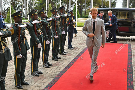 Prince Harry arrives for an audience with President Joao Lourenco at the presidential palace in Luanda, Angola on day six of the royal tour of Africa.