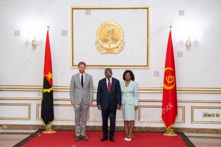 Prince Harry meets with the President of Angola Joao Lourenco and First Lady Ana Dias Lourenco at the presidential palace in Luanda, Angola on day six of the royal tour of Africa.