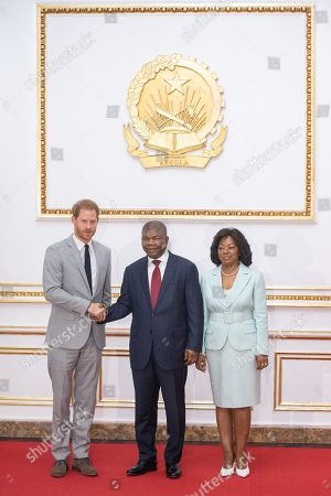 Prince Harry arrives for an audience with Joao Lourenco (C) at the presidential palace in Luanda Angola 28 September 2019. The Duke and Duchess of Sussex are on a 10-day tour of southern Africa.