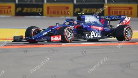 French Formula One driver Pierre Gasly of Scuderia Toro Rosso in action during the qualifying of the Formula One Grand Prix of Russia at the Sochi Autodrom circuit, in Sochi, Russia, 28 September 2019.The Formula One Grand Prix of Russia will take place on 29 September 2019.