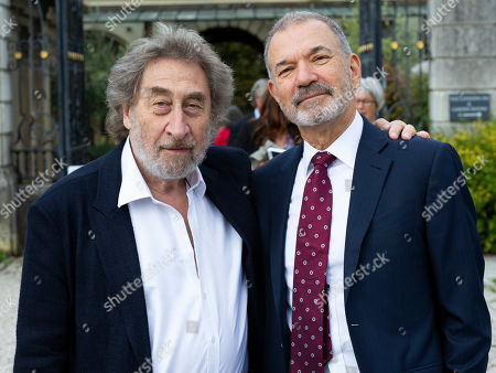 Stock Picture of Howard Jacobson and Stephen Greenblatt