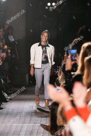 Isabel Marant on the catwalk