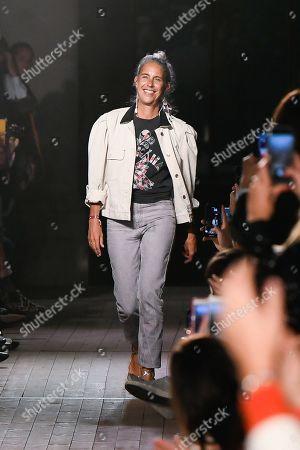 Stock Photo of Isabel Marant on the catwalk