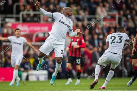 Angelo Ogbonna (West Ham) during the Premier League match between Bournemouth and West Ham United at the Vitality Stadium, Bournemouth