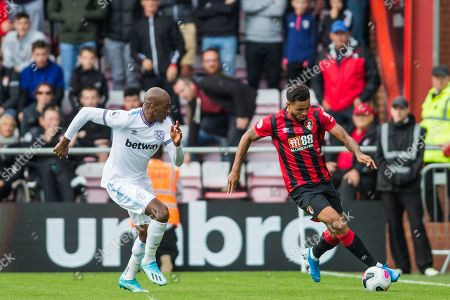 Stock Picture of Angelo Ogbonna (West Ham) & Philip Billing (Bournemouth) during the Premier League match between Bournemouth and West Ham United at the Vitality Stadium, Bournemouth